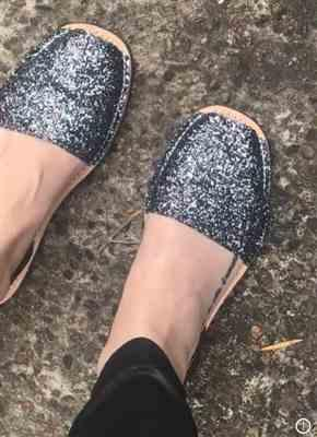 Anonymous verified customer review of Gray Glitter-Gunmetal