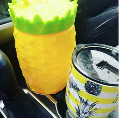 Nancy S. verified customer review of 64 Oz Oversized Pineapple Tumbler