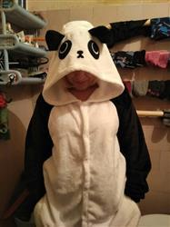 Leanne Labadie verified customer review of Panda Onesie - Fleece