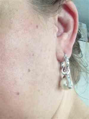 SOPHIE D. verified customer review of Boucles Youlia - Argent