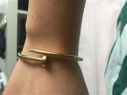 Nina T. verified customer review of Bangle Clou - Or