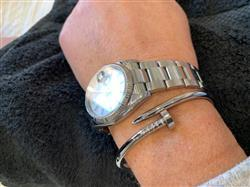 Nathalie M. verified customer review of Bangle Clou - Argent