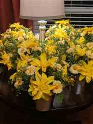 Diane C. verified customer review of 12 Bush 108 pcs Yellow Artificial Silk Daisy Flowers