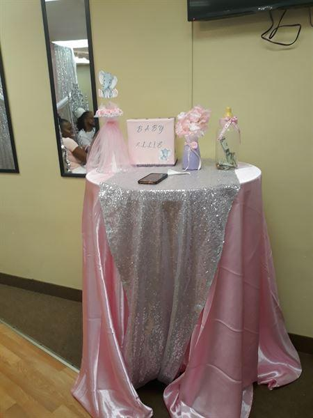 La T. verified customer review of 120 Pink Satin Round Tablecloth