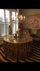 Denise K. verified customer review of 120 Big Payette Gold Sequin Round Tablecloth Premium Collection