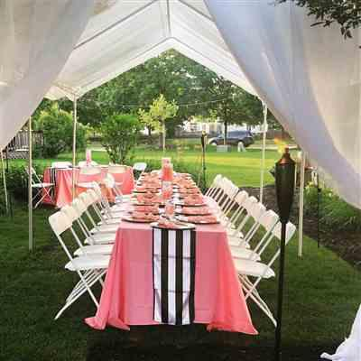 mary b. verified customer review of 90x156 Rose Quartz Polyester Rectangular Tablecloth