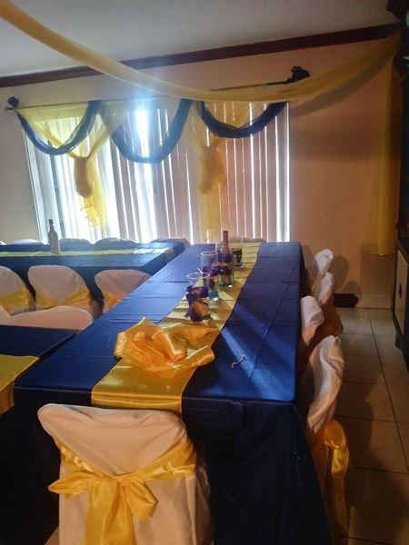 Rosenie T. verified customer review of 90x156 Royal Blue Satin Rectangular Tablecloth