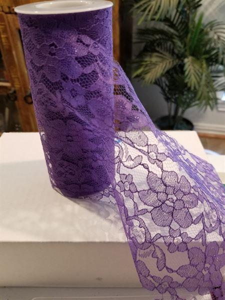 Wanda C. verified customer review of 6 x 10 Yards Purple Floral Lace Fabric Bolt
