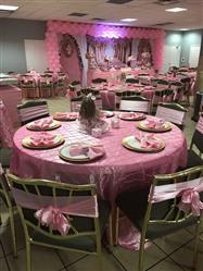 Jordania A. verified customer review of 120 Pink Pintuck Round Tablecloth