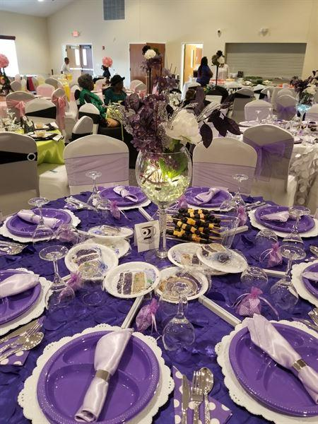 Carolyn Brooks verified customer review of 14 x 108 Purple Organza Runner For Table Top Wedding Catering Party Decoration