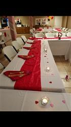 Brandie G. verified customer review of 5 Pack 20x 20 Red Crinkle Crushed Taffeta Napkins