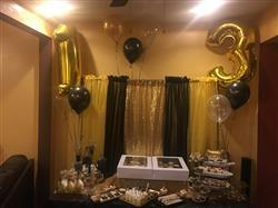 tableclothsfactory.com 40 Gold Foil Helium Mylar Balloons Numbers - 1 Review