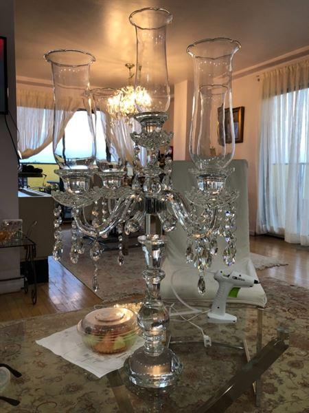 Arezou a. verified customer review of 32 Tall 5 Arm PREMIUM Hurricane Taper Crystal Glass Candle Holder