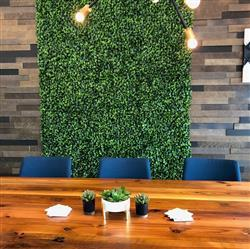 Eden D. verified customer review of 11 Sq ft. | 4 Panels Artificial Boxwood Hedge Faux Small Leaves Foliage Green Garden Wall Mat