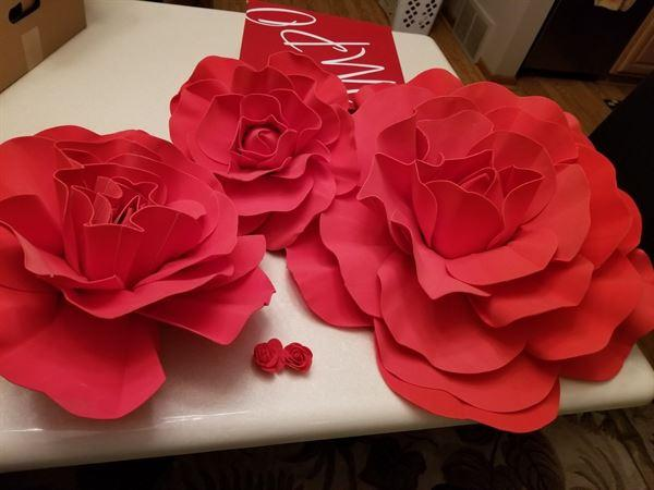 Sue L. verified customer review of 6 Pack 8 Large Red Real Touch Artificial Foam Craft Roses