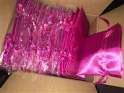Stephanie A. verified customer review of 12 Pack | 5x7 Fushia Satin Favor Bags Party Drawstring Pouches