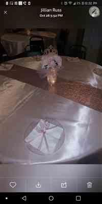 Jillian  verified customer review of 72 Rose Gold | Blush Seamless Satin Square Tablecloth