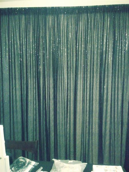 tableclothsfactory.com 8 FT Black Sequin Curtains | Photo Booth Backdrop With Rod Pocket Review