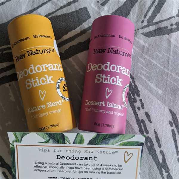 Sandra Dickson verified customer review of Deodorant Stick - Nature Nerd