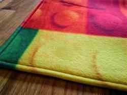 Samantha C verified customer review of Colorful Kids Lego Print Area Rug Floor Mat