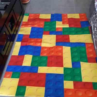 Allison Carter verified customer review of Colorful Kids Lego Print Area Rug Floor Mat
