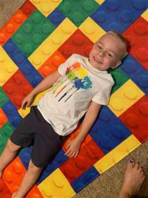 Courtney S. verified customer review of Colorful Kids Lego Print Area Rug Floor Mat