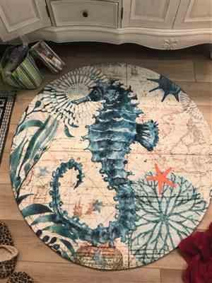 Anonymous verified customer review of Round Mediterranean Sea Life Floor Mat Rug
