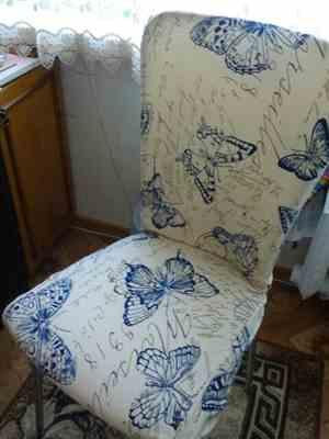Andrea L. verified customer review of Vintage Butterfly Print Dining Room Chair Cover