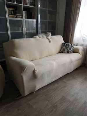 Linda G. verified customer review of Solid-Color Plush Velvet Elastic Sofa Couch Cover