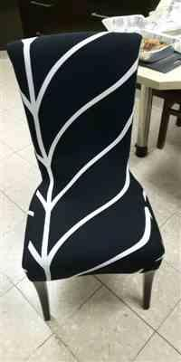 Anonymous verified customer review of Black & White Abstract Stripe Dining Chair Cover