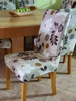 Alison K. verified customer review of Light Brown Floral Print Dining Chair Cover