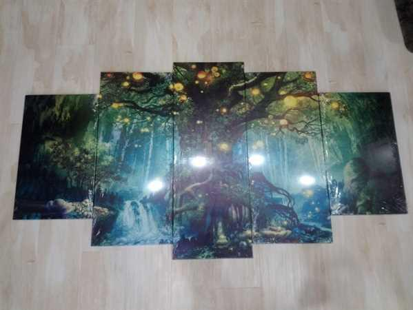 Anonymous verified customer review of 5-Piece Canvas Mystical Enchanted Forest Tree Wall Art