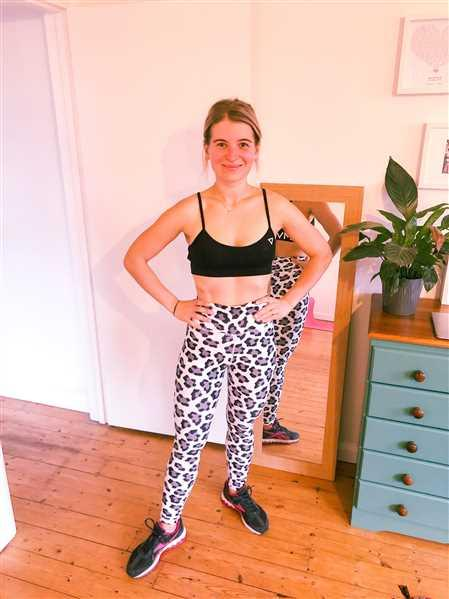 Diana Corbin verified customer review of Snow Leopard Leggings