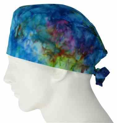 Crystal G. verified customer review of Surgical Scrub Cap Tie Dye