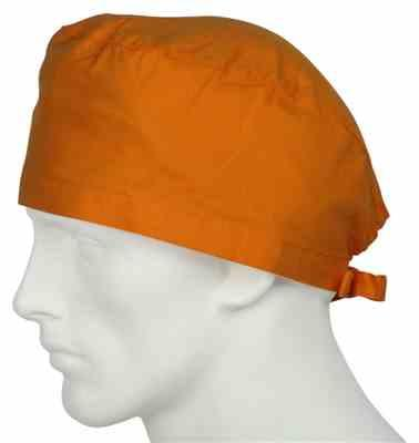 Richard B. verified customer review of Scrub Caps Sunrise Orange