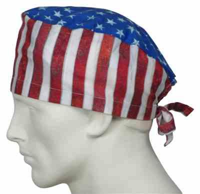 omid termechi verified customer review of Surgical Caps American Flags