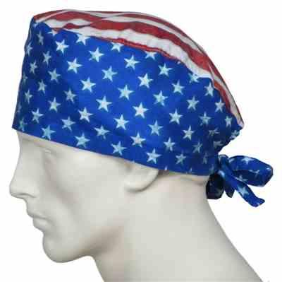 louis st jean verified customer review of Surgical Caps American Flags