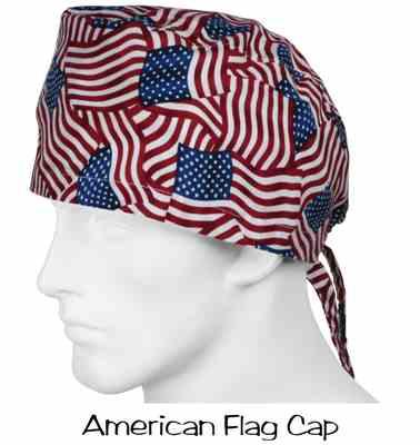 Julie Hobden verified customer review of Surgical Caps American Flags