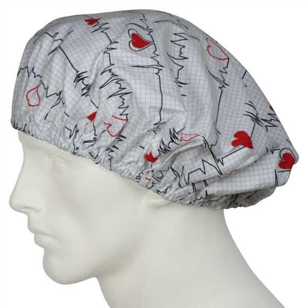 SurgicalCaps.com Bouffant Scrub Hat EKG black Review