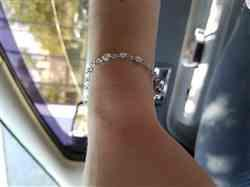 Tim verified customer review of Moissanite Chain Link Bracelet 3 1/2 CTW in 10k White Gold