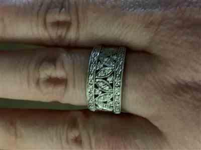 Charlotte C. verified customer review of Diamond Fashion Floral Band 1/2 carat (ctw) in 14K White Gold