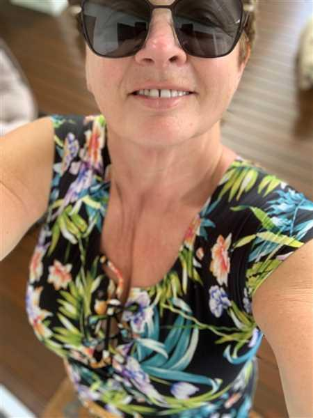 Sandy Hope verified customer review of Tahiti Short Sleeve Tie One Piece