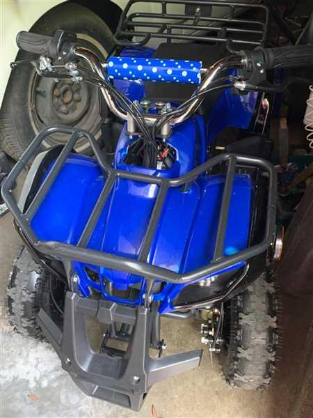 KENT WELLS verified customer review of eQuad X Navy Blue 800W Utility ATV 4 Wheeler for Kids