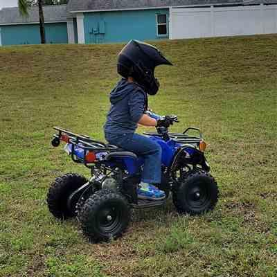 Joseph Solis verified customer review of eQuad X Navy Blue 800W Utility ATV 4 Wheeler for Kids