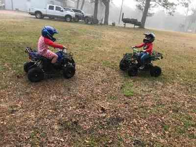Bert Vasut verified customer review of eQuad X Navy Blue 800W Utility ATV 4 Wheeler for Kids