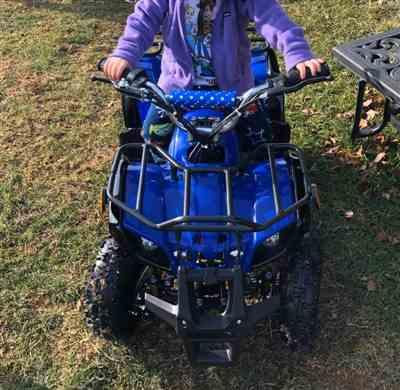 Danielle McLaren verified customer review of eQuad X Navy Blue 800W Utility ATV 4 Wheeler for Kids