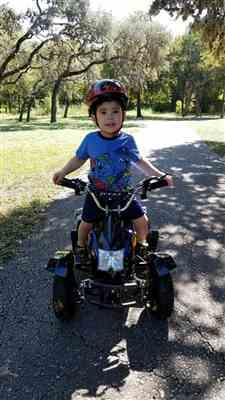 Anonymous verified customer review of eQuad S Blue 500W ATV 4 Wheeler for Kids