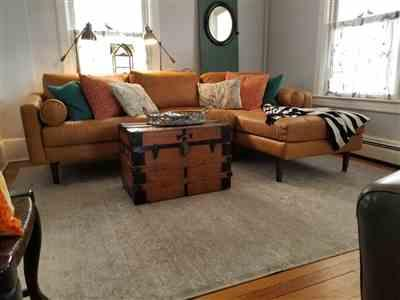 Kathleen Brown verified customer review of Napa Left Sectional Sofa in Cognac Tan