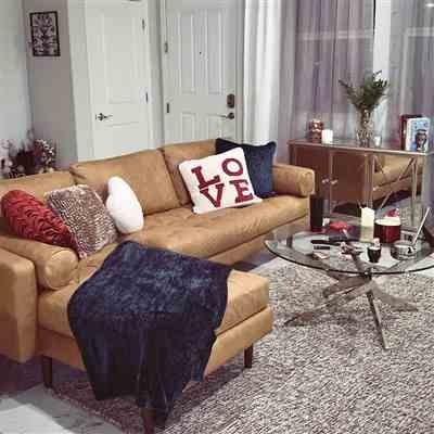 Ashley  verified customer review of Napa Right Sectional Sofa