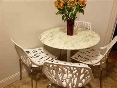 Lisa in Brooklyn  verified customer review of Daisy Artificial Marble Dining Table
